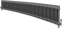 Eastgate Victoriana 3 Column 43 Section Cast Iron Radiator 450mm High x 2623mm Wide - Metallic Finish